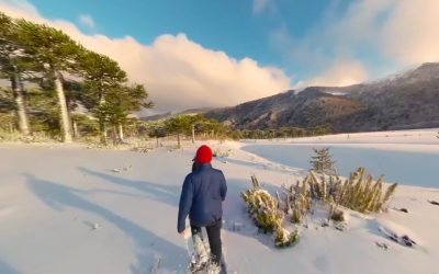 Chile during winter in 360°